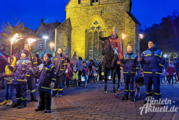 Martinsumzug 2019: Mit Pferd, Fackeln und Gesang durch die Rintelner Innenstadt