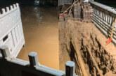 Wasserrohrbruch in Rinteln-Nord