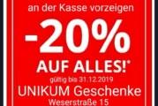 20 Prozent Rabatt bei Unikum Rinteln sichern