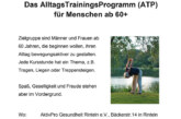 """Das Alltags Trainings Programm für Menschen ab """"60 plus"""""""