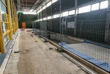 Kreissporthalle: Sanierung des Wasserschadens steht kurz bevor