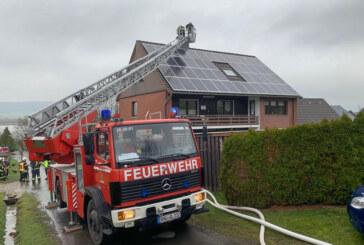 Schornsteinbrand: Feuerwehreinsatz in Hohenrode