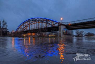 Rinteln: Wasserstand der Weser steigt