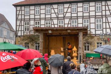 Rintelner Brennholz- und Bauernmarkt bei Frühlingstemperaturen und Regen