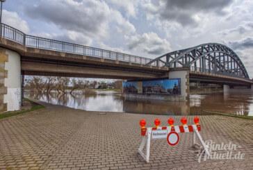 Rinteln: Pegelstand der Weser steigt über Fünf-Meter-Marke
