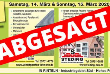 """(ABGESAGT) Rinteln: Lohmann, Steding Bauunternehmen und Metallbau Hausmann laden zu Fachausstellung """"Rund ums Haus"""" ein"""