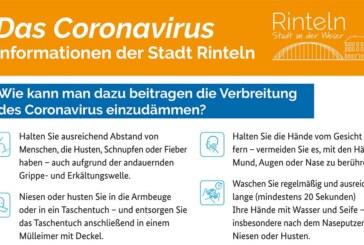 Rinteln: Hinweise und Empfehlungen zum Thema Corona-Virus