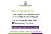 """Neue Zeiten: """"Waldgasthaus Homberg"""" wird vorübergehend zu Abholrestaurant"""