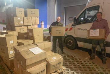 100.000 Schutzmasken für Rinteln und den Landkreis Schaumburg abgeholt