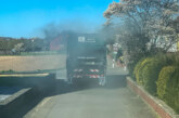 Eisbergen: Feuerwehr löscht Müllwagenbrand