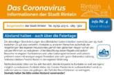 """""""Abstand halten – auch über die Feiertage"""": Hinweise und Empfehlungen zum Thema Corona-Virus"""