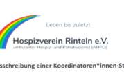 Stellenanzeige: Koordinatorin/Koordinator beim Hospizverein Rinteln