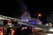 Nächtlicher Feuerwehreinsatz in Ahe