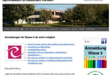 Anmeldungen für die 5. Klassen am Gymnasium Ernestinum jetzt vollständig digital