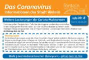 Stadt Rinteln veröffentlicht Flyer Nr. 8 / Hinweise und Empfehlungen zum Thema Corona-Virus