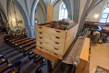 Eingepackt und abtransportiert: St. Nikolai Orgelpfeifen kommen in die Werkstatt