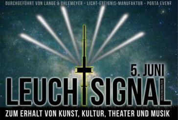 #Leuchtsignal am Fernsehturm: Ein Zeichen für den Erhalt von Kunst, Kultur, Theater und Musik