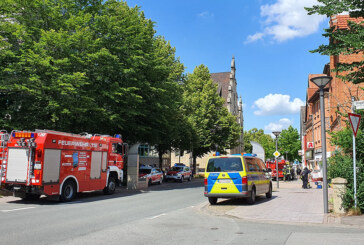 Rinteln: Feuerwehreinsatz in der Seetorstraße / Druckmaschine fängt Feuer