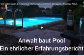 """(Video) Anwalt baut Pool: Ein Erfahrungsbericht zum Thema """"Urlaubsatmosphäre daheim schaffen"""""""