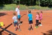 Innovatives Training: 36 Kinder und Jugendliche im Tennisbetrieb von Rot-Weiß Rinteln