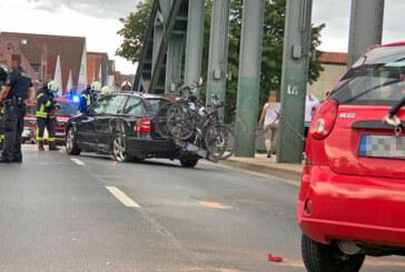 Rinteln: Vollsperrung nach Unfall auf Weserbrücke