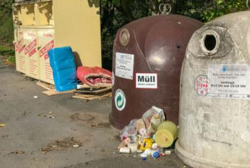 Dauerthema Vermüllung: Künftig weniger Sammelcontainer in Rinteln?