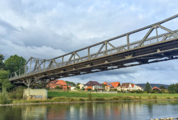 Eisbergen: Weserbrücke ab 11. September für Fahrzeuge über 3,5 Tonnen gesperrt