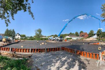 Klabauternest-Neubau: 570 Kubikmeter Beton fließen in Kita-Bodenplatte