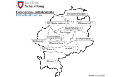 Landkreis: Aktuell 42 Corona-Fälle in Schaumburg, 3 davon in Rinteln