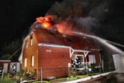 Zwei Verletzte bei Wohnhausbrand in Porta Westfalica