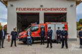Neubau und Fahrzeug für Hohenrode: Eine Million Euro in Feuerwehr investiert