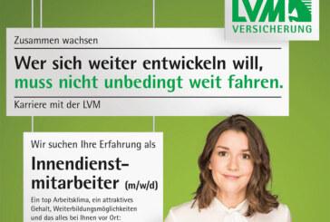 (Stellenanzeige) LVM-Versicherungsagentur sucht Innendienstmitarbeiter (m/w/d)