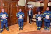 Ehrenamtskarte in Gold an vier Mitglieder des THW Rinteln überreicht