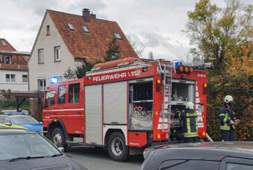 Feuerwehreinsatz in der Alten Todenmanner Straße