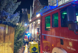 Rinteln: Feuerwehreinsatz in der Fußgängerzone