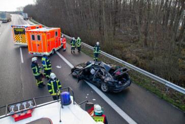 Verkehrsunfall auf A2 bei Porta: Zwei Schwerverletzte