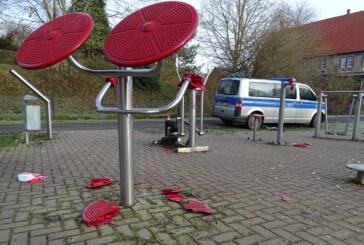 Sportanlage im Hessisch Oldendorfer Münchhausenpark beschädigt und verschmutzt