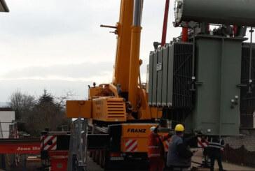 Rinteln: 31,5-Tonnen-Trafo in Umspannwerk in der Nordstadt eingebaut