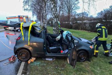 Unfall am Doktorsee: Auto prallt gegen Baum