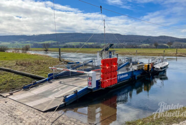 Weserfähre Großenwieden wieder in Betrieb
