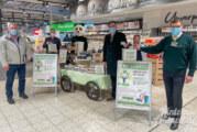 Baumpflanzkarte beim Marktkauf: Verpackungen und Plastik beim Einkauf sparen und Bäume in Rinteln pflanzen