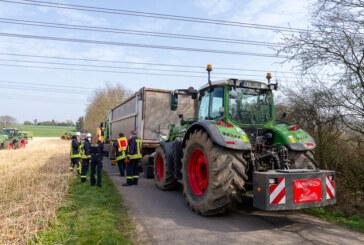 (Update) Tödlicher Unfall unter Hochspannungsleitung in Veltheim