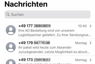 """""""Smishing"""": Polizei warnt vor SMS mit Paketbenachrichtigungen"""