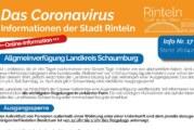 Stadt Rinteln veröffentlicht Corona-Flyer Nr. 17 / Hinweise zu Ausgangssperre & Regelungen