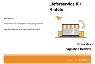 """Neuauflage der Broschüre """"Lieferservice für Rinteln"""""""
