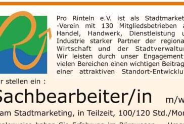 (Stellenanzeige) Pro Rinteln sucht Sachbearbeiter (m/w/d) in Teilzeit