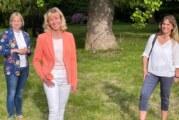 Mit Katja Keul und Marja-Liisa Völlers: Bürgermeisterkandidatin Andrea Lange besucht IGS und Burghof-Klinik