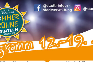 Rintelner Sommer-Bühne 2021: Programm vom 13. bis 19. Juli 2021
