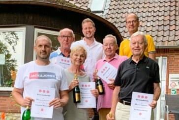 Tennisverein Rot-Weiß-Rinteln: Ehrungen für 300 Jahre Mitgliedschaft