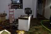 Eisbergen: Feuerwehr löscht brennenden Wäschetrockner